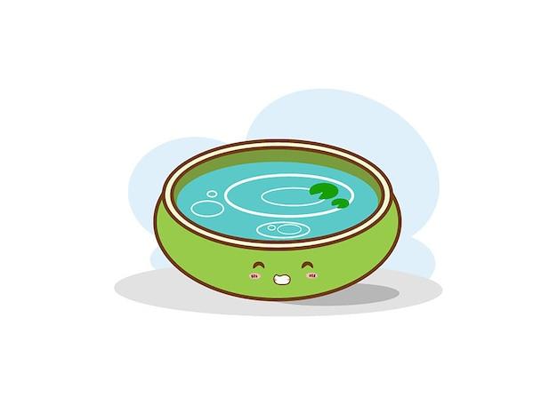Иллюстрация водного бассейна на белом фоне