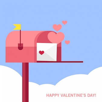 バレンタインデーのメールボックス