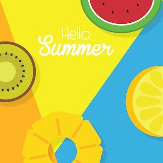 こんにちは夏のポスター