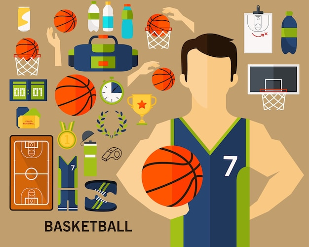 バスケットボールのコンセプトの背景
