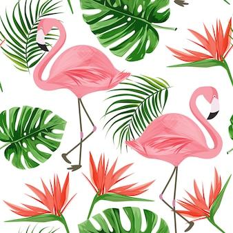 フラミンゴの模様。
