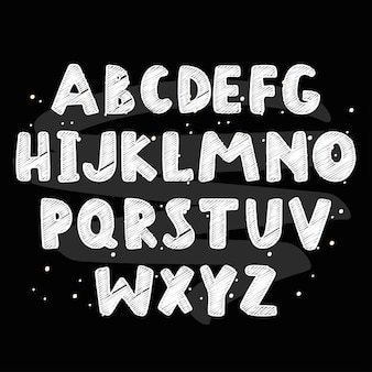 子供のものの抽象的なアルファベット。