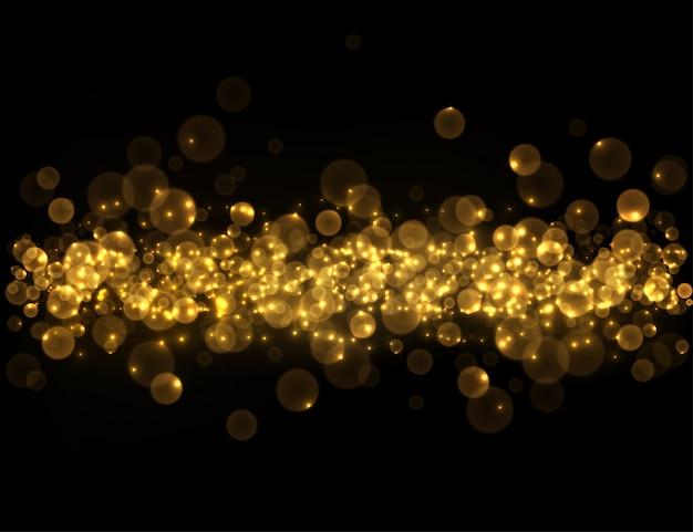 黄金のボケの背景