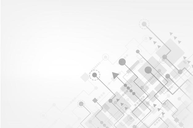 未来的な回路板を持つ抽象的な技術の背景