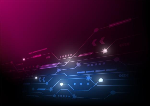 抽象的な回路基板技術背景未来的なデジタル、ハイテクコンセプト