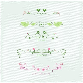 ヴィンテージ水彩画の花のフレーム。