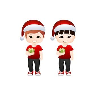 かわいい男の子のクリスマス
