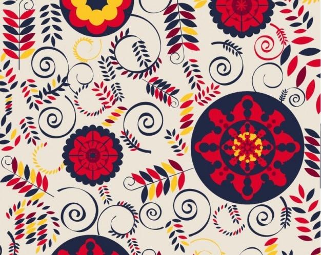 花柄のデザインベクトルの背景