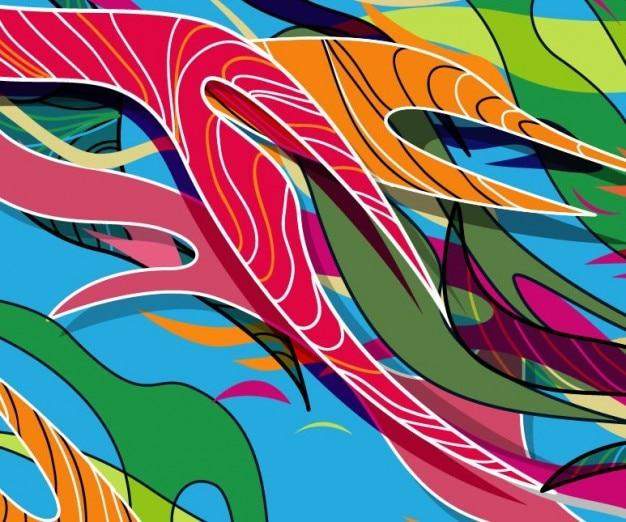 抽象的な着色された、ベクトル、イラスト
