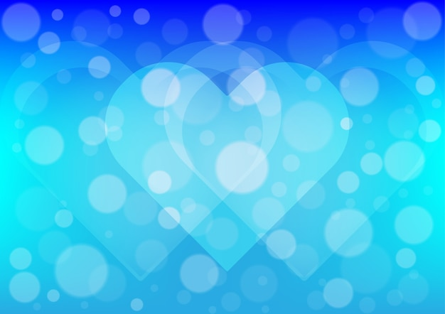 Сердце свет на синем фоне цвета