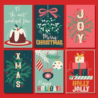 ヴィンテージクリスマスカードセット