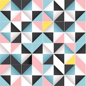 幾何学的なシームレスな抽象的なパターン