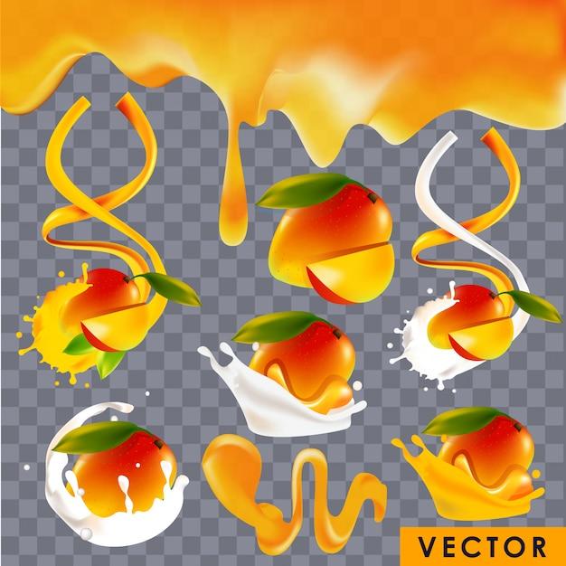 Реалистичные продукты со вкусом манго