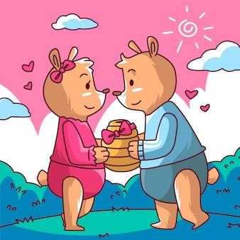 クマのカップル