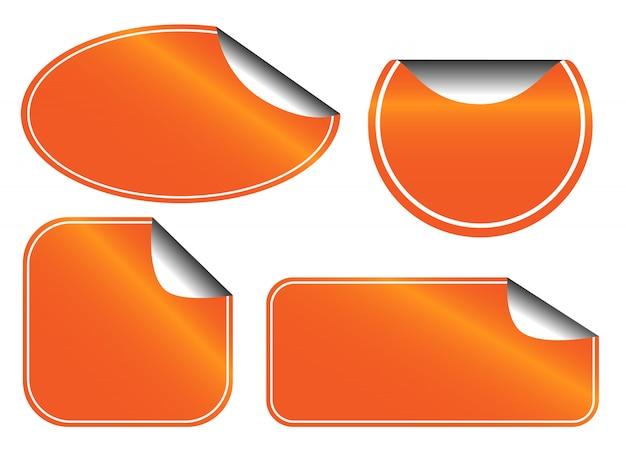オレンジ色のラベルセット