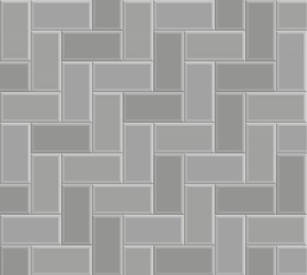 Кирпич камень тротуар шаблон текстуры фона, вектор серый пол ходьбы