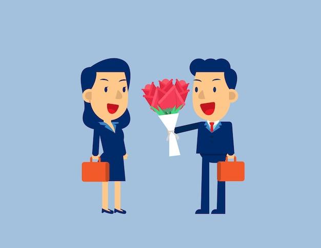 花をあげる