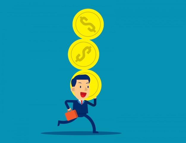 ビジネスマンと会社の利益