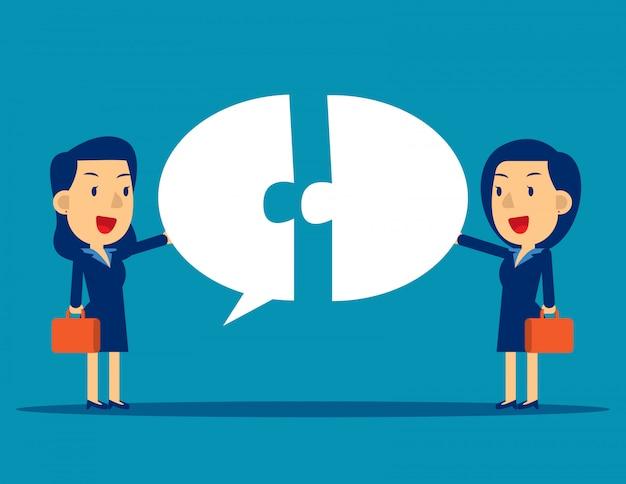 吹き出しとのビジネスコミュニケーション