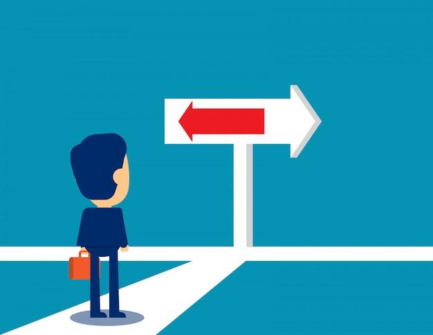 ビジネスの決定と人生の方向
