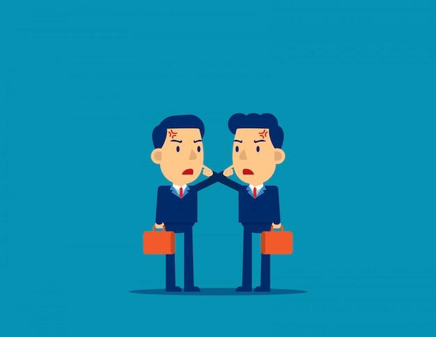 議論する同僚