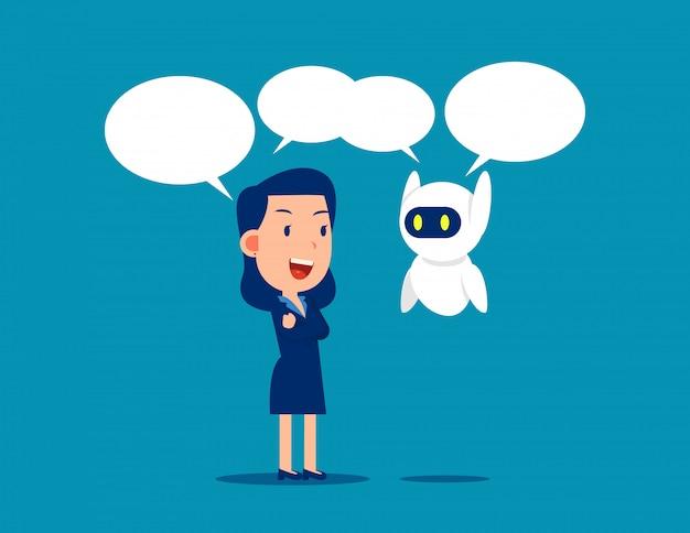 Человек и робот общение
