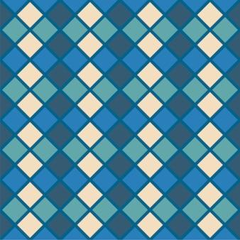シームレスなアーガイルパターン。ダイヤモンドの形の背景