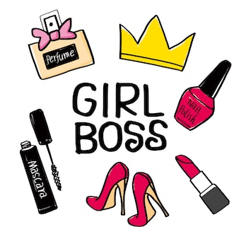 女の子のボス。