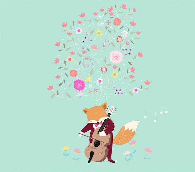 かわいい赤ちゃんアライグマが音楽を演奏する