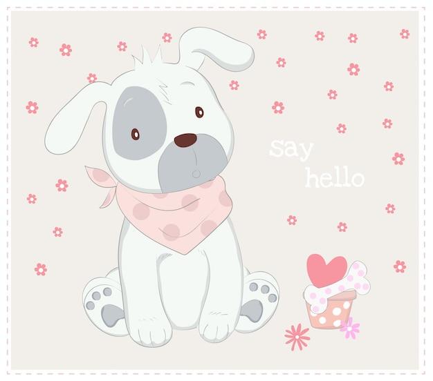 かわいい赤ん坊の犬