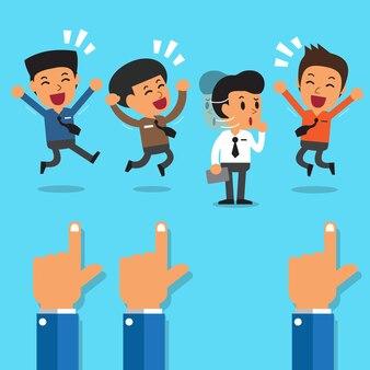 ビジネスマンを指す募集概念の手
