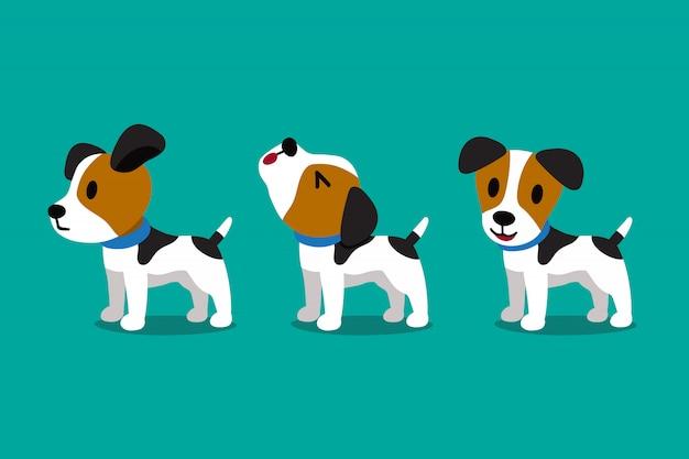 かわいいジャックラッセルテリア犬のポーズ