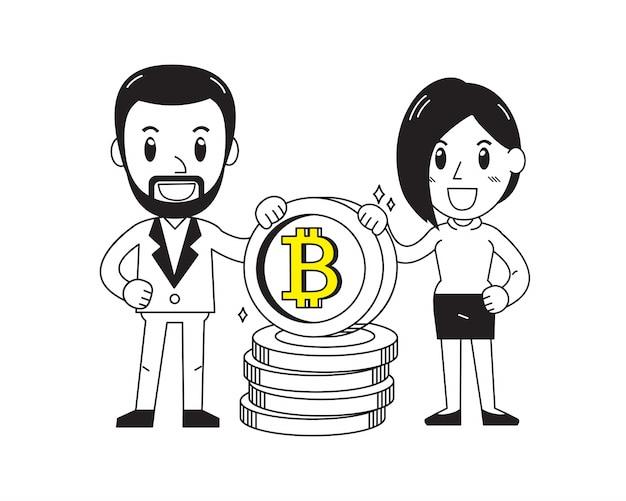 Бизнесмен и предприниматель с большой стопку монет