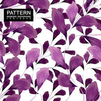 Фиолетовый цветочный бесшовный узор