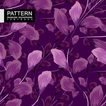 紫のシームレスな花柄