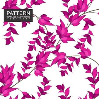 濃いピンクの葉と枝