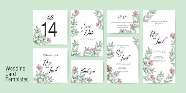 Шаблон свадебной открытки