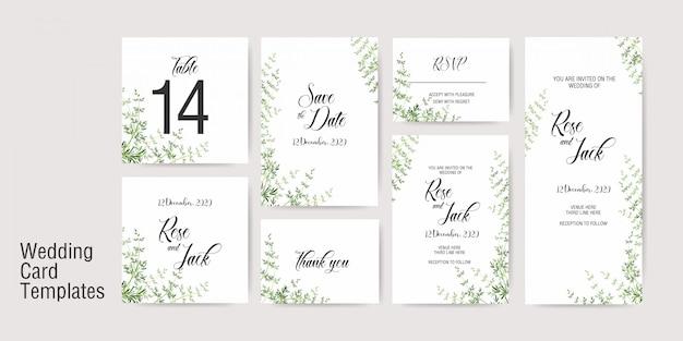 ウェディングカードの招待状のテンプレート