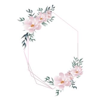 Элегантная красивая цветочная геометрическая рамка