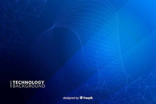 Синий технологический фон