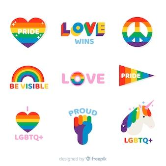 Коллекция наклеек на день гордости
