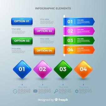 インフォグラフィック要素の収集