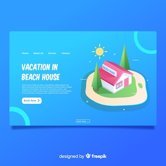 休暇のランディングページ