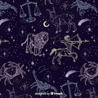 リアルな手描きの星座