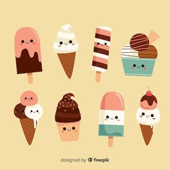 かわいい夏のアイスクリームコレクション