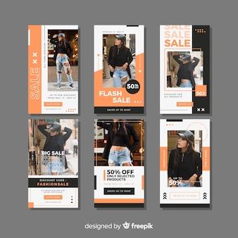 Модная распродажа инстаграм историй коллекций