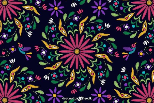 Традиционный мексиканский фон вышивки