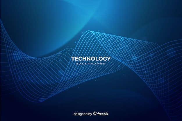 ブルー抽象的な技術の背景