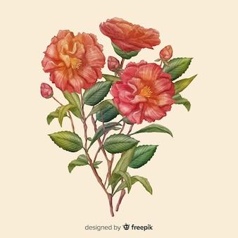 手描きのリアルな花束