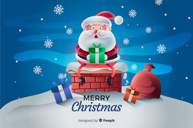 サンタクロースのクリスマスの背景